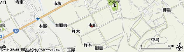 愛知県田原市東神戸町(本田)周辺の地図