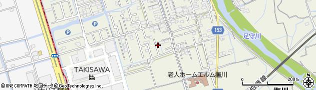 岡山県岡山市北区撫川周辺の地図