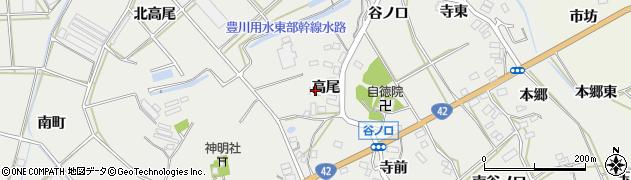 愛知県田原市南神戸町(高尾)周辺の地図