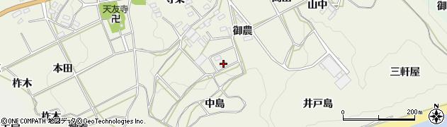 愛知県田原市東神戸町(中島)周辺の地図