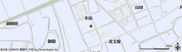 愛知県田原市大草町(幸田)周辺の地図