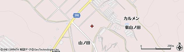 愛知県田原市野田町(山ノ田)周辺の地図