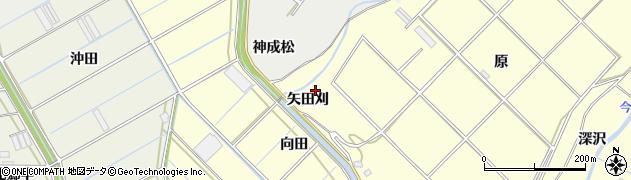 愛知県田原市八王子町(矢田刈)周辺の地図