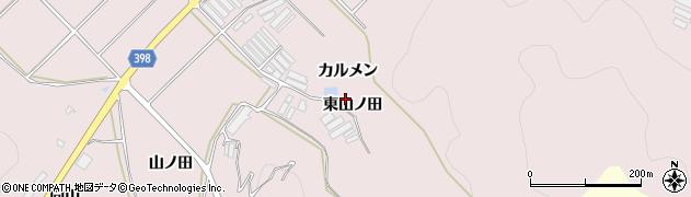 愛知県田原市野田町(東山ノ田)周辺の地図