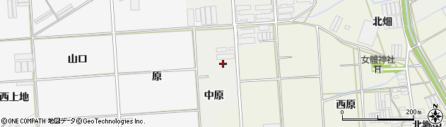 愛知県田原市馬伏町(中原)周辺の地図