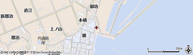 愛知県田原市福江町(日比浜)周辺の地図