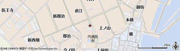 愛知県田原市福江町(直江)周辺の地図