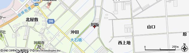 愛知県田原市伊川津町(川坂)周辺の地図