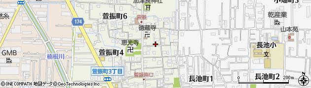 大阪府八尾市萱振町5丁目周辺の地図