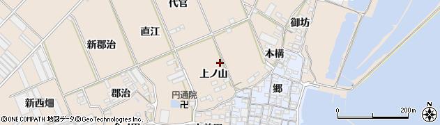 愛知県田原市福江町(上ノ山)周辺の地図