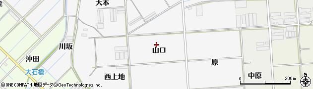 愛知県田原市伊川津町(山口)周辺の地図
