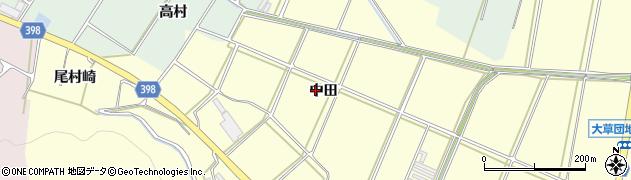 愛知県田原市高松町(中田)周辺の地図
