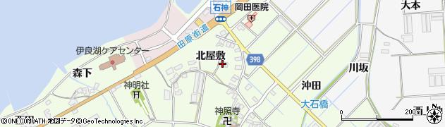 愛知県田原市石神町(北屋敷)周辺の地図