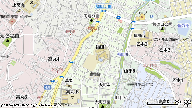 〒655-0013 兵庫県神戸市垂水区福田の地図
