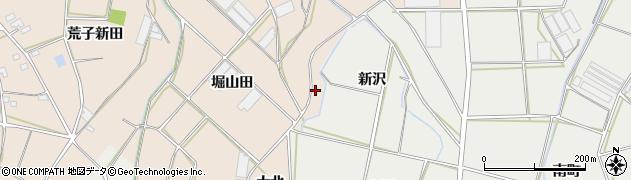 愛知県田原市西神戸町(新沢)周辺の地図