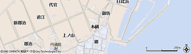 愛知県田原市福江町(本構)周辺の地図