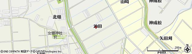 愛知県田原市村松町(沖田)周辺の地図