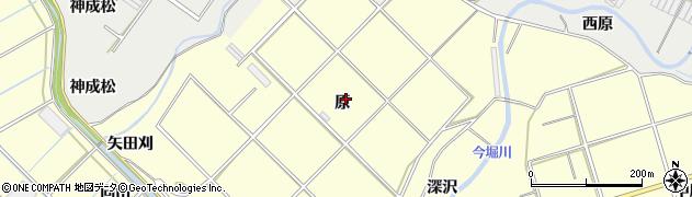 愛知県田原市八王子町(原)周辺の地図