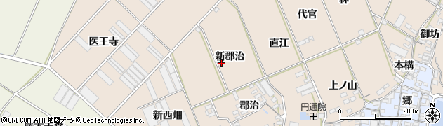 愛知県田原市福江町(新郡治)周辺の地図