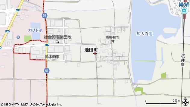 〒630-8445 奈良県奈良市池田町の地図