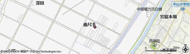 愛知県田原市小中山町(曲尺手)周辺の地図