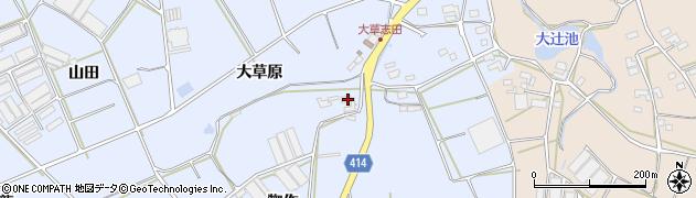 愛知県田原市大草町(大草原)周辺の地図