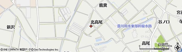 愛知県田原市南神戸町(北高尾)周辺の地図