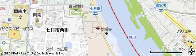 岡山県岡山市北区七日市東町周辺の地図