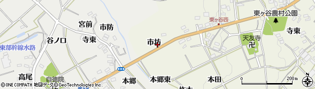 愛知県田原市東神戸町(市坊)周辺の地図