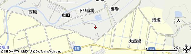 愛知県田原市江比間町(番場)周辺の地図