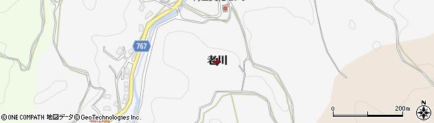 三重県伊賀市老川周辺の地図
