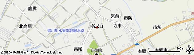 愛知県田原市南神戸町(谷ノ口)周辺の地図