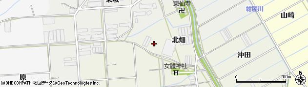 愛知県田原市村松町(北畑)周辺の地図
