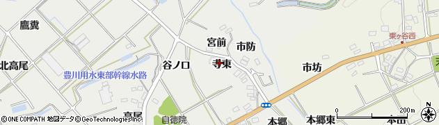 愛知県田原市南神戸町(寺東)周辺の地図