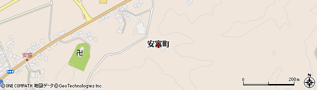 島根県益田市安富町周辺の地図