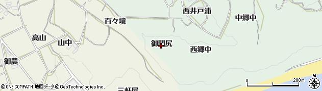 愛知県田原市六連町(御門尻)周辺の地図