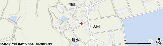 愛知県田原市芦町(大田)周辺の地図