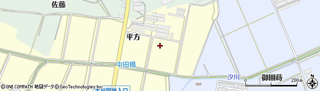 愛知県田原市高松町(平方)周辺の地図