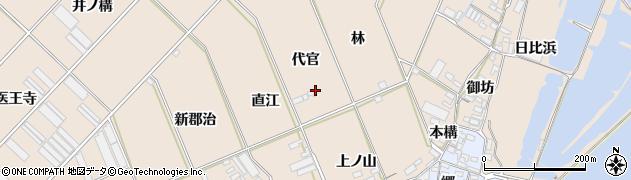 愛知県田原市福江町(代官)周辺の地図