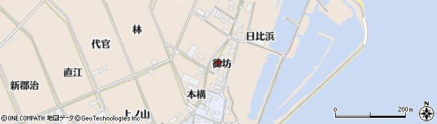 愛知県田原市福江町(御坊)周辺の地図