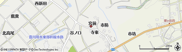 愛知県田原市南神戸町(宮前)周辺の地図