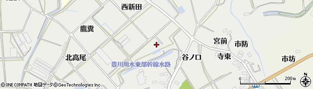 愛知県田原市南神戸町(西新田)周辺の地図