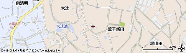 愛知県田原市西神戸町(荒子新田)周辺の地図