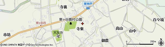 愛知県田原市東神戸町(寺東)周辺の地図