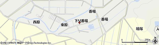 愛知県田原市江比間町(下り番場)周辺の地図