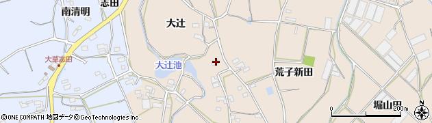 愛知県田原市西神戸町(大辻)周辺の地図
