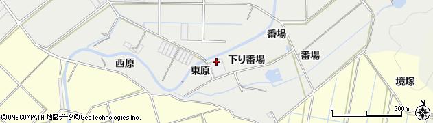 愛知県田原市江比間町(東原)周辺の地図