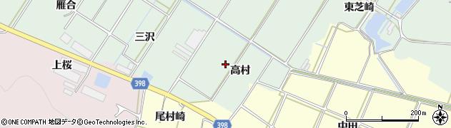 愛知県田原市大久保町(高村)周辺の地図