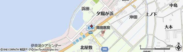 愛知県田原市石神町(浜田)周辺の地図