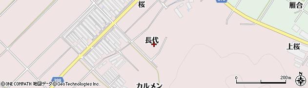 愛知県田原市野田町(長代)周辺の地図